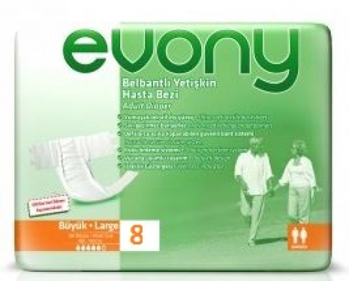 Fraldas p/Adultos Large Evony 8 unidades