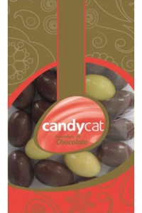 Amêndoas Chocolate Leite + Chocolate Branco Saqueta Candycat