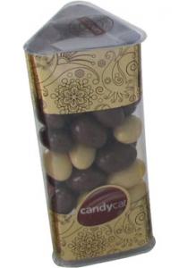 Amêndoas Chocolate Leite + Chocolate Branco Polígono Candycat