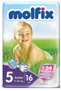 Fraldas Junior 11-25Kg Molfix Eco 16und