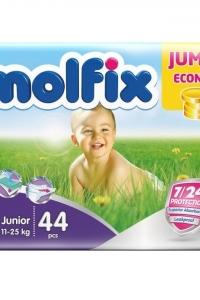 Fraldas Junior 11-25Kg Molfix Jumbo 44und