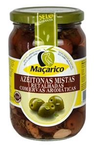 Azeitona Mista Retalhada c/Ervas Aromáticas Maçarico 210gr